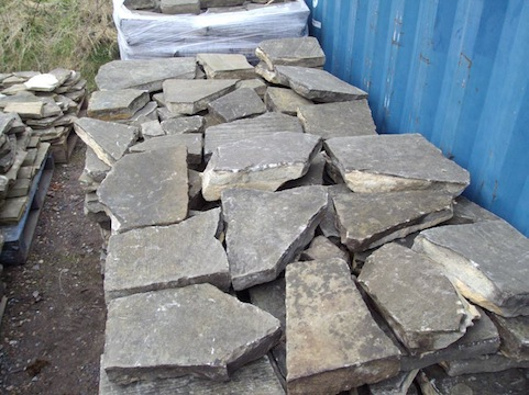 Reclaimed Yorkstone Crazy Paving