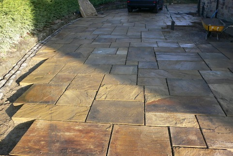 Riven Yorkstone Paving patio